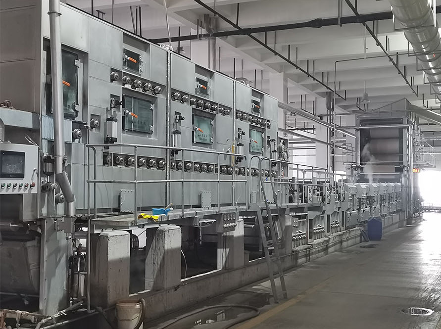 Pad dyeing machine